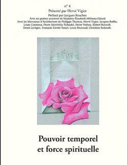 4. pouvoir temporel et force spirituelle cahiers n°4 les amis de roger girard - Vigier Hervé
